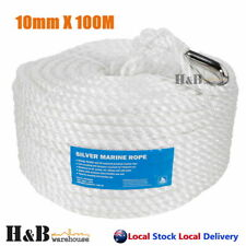 10mm x 100M Anchor Marine Rope Boat Mooring Line Stainless Steel Thimble
