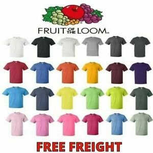 Fruit of the Loom Mens T-Shirts HD 100% Cotton Short Sleeve Tee S-6XL 3930