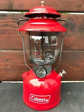 VINTAGE COLEMAN LANTERN RED MODEL 200A 7-74 JULY 1974 GLOBE #550 MADE IN USA