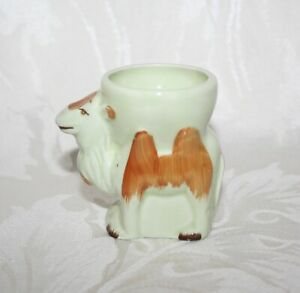 LOVELY VINTAGE HAND PAINTED CAMEL EGG CUP