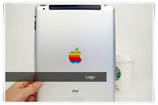80s' Apple Rainbow Logo Protect Transparent Sticker iPad Air 2 Pro 9.7 10.5 inch
