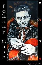 Poster of Johnny Cash Ring of Fire by Cadillac Johnson