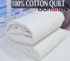 NEW SUMMER King Size 100% NATRUAL PURE COTTON QUILT DOONA DUVET ALLERGY FREE