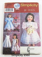 "Simp 9560 18"" Doll Vintage Clothes Pattern"