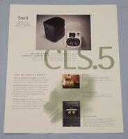 RARE_Vintage_ Snell Acoustics CLS.5 Original 2-page Sales Brochure