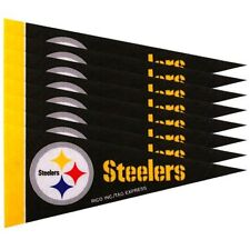 """Pittsburgh Steelers 4"""" x 9"""" Mini Pennant Banner Flag Fan Cave Decor 8 Pack Set"""