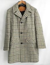 Vtg Woolrich Coat Wool Gray tones Faux Fur Lined  Size 40(M) Plaid