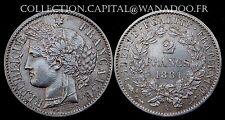 2 Francs Cérés 1881A Troisième République 1871/1940 Côte SUP 220€