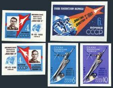 Russia 2627-2631 imperf,MNH. Vostok 3,4:,Nikolayev,Popovich.Space Monument1962.