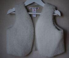 BONPOINT Kids PALOU en peau de mouton veste sans manches gilet 2 ans