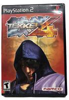Tekken 4 (Sony PlayStation 2, 2002, Black Label) Complete/VERY GOOD/ w/ MANUAL