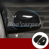 Für BMW X5 G05 ABS Karbonfaser-Stil Spiegelkappen Außenspiegel Rahmen 2019-2020