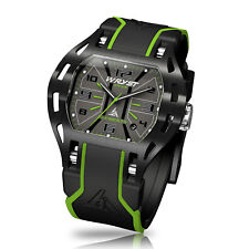 Green Sport Watch Wryst Elements PH3 Swiss Made Black DLC Coating Limited Serie