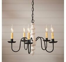 Country Inn Wooden Chandelier Americana Multi Color Avail FREE SHIP