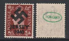 GB Jersey (268) 1940 Swastika Overprint forgey om genuine 1.5d stamp unmounted