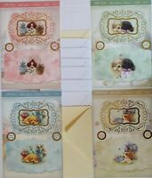 Hunkydory Little Paws Puppy Pals Cardmaking Pack Makes 8 Large Cards