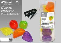 8 Cubetti Ghiaccio Colorati Freezer Cocktail Ghiacciolini Riutilizzabili hmj