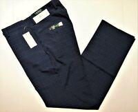 LAUREN Ralph Lauren size 32x32 men's classic windowpane dress pants navy blue
