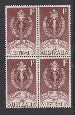 AUSTRALIA 1961 10th Anniversary of the Colombo Plan MNH SG339 Block of 4