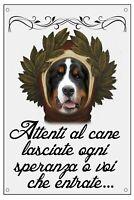 BOVARO DEL BERNESE DANTE ALIGHIERI TARGA METALLO CARTELLO IDEA REGALO CANE