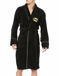 Classic Batman (DC Comics) Unisex Fleece Dressing Gown Black