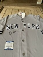 Miguel Andujar Autographed/Signed Jersey Beckett COA New York Yankees