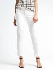 Banana Republic Stay White Fray Cuff Girlfriend Jeans 31 R 8 R
