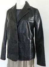 Gap Leather Jacket Size 10 Black  Two button Pockets