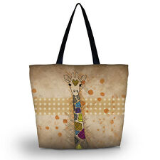 Giraffe Women Girl Beach Tote Shoulder Shopping Bag Purse Handbag Travel Pouch