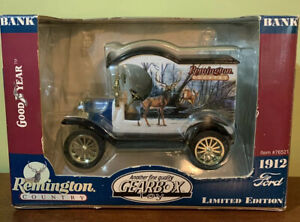 Gearbox Remington Country 1912 Ford Model T Delivery Limited Edition Coin Bank