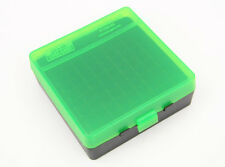 Mtm Case-Gard P-100 Pistol Ammo Clear Green and Black 44 Mag, 44 Spl, 45 Lc