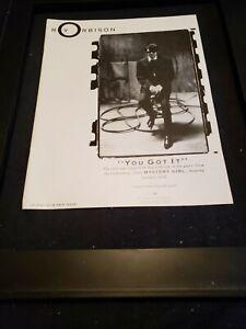 Roy Orbison You Got It Rare Original Radio Promo Ad Framed! #2