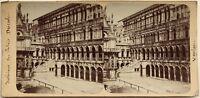 Venezia Palais Ducale Interno Italia Fotografia Stereo Vintage Albumina c1880