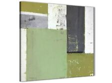 VERDE Grey Pittura Astratta Tela arte FOTO-Moderno Quadrato 64 cm - 1s337m