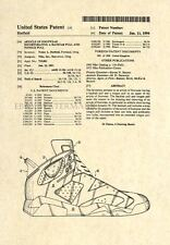 Official Air Jordan Retro 6 US Patent Art Print - Nike Jordan VI Artwork 126