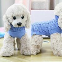 Dog Knit Jacket Sweater Pet Cat Puppy Coat Clothes Warm Costume Apparel X-XL