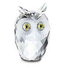 "SWAROVSKI SILVER CRYSTAL ""OWL, LARGE"" 010022 NEW & MINT IN BOX RETIRED 2009"