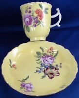 Antique 18thC Meissen Porcelain Yellow Ground Cup & Saucer Porzellan Tasse