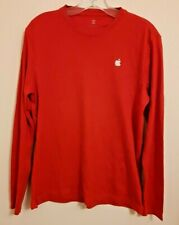 APPLE long sleeved red cotton jersey size S Brand New
