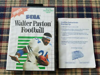 Walter Payton Football - Authentic - Sega Master - Case / Box and Manual Only!