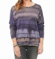 Democracy Womens Sweater Navy Blue Size Small S Pullover Tie Dye $52- 345