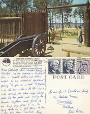 1979 JAMES FORT JAMESTOWN VIRGINIA UNITED STATES COLOUR POSTCARD