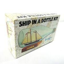 Vintage America Ship in a Bottle Model Kit by Woodkrafter 1980 OPEN BOX No. 202