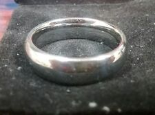 Men's Tungsten Polished Classic Wedding Ring Size 9.5 6MM Silver