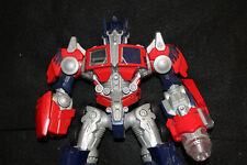 Optimus Prime Transformer Action Figure Blue Red Flames Robot Toy