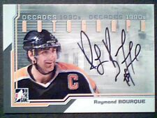 Raymond Bourque Authentic 1990s Decades Autograph /Sp