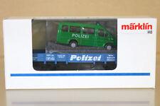 MARKLIN MäRKLIN 4423 DB POLIZEI NIEDERBOARD WAGEN & FORD TRANSIT VAN LOAD BLUE