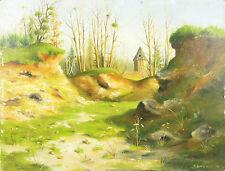 Fernand Guéry Colas (XX)Paysage de Sologne olivet landscape Cher Vierzon beuvron
