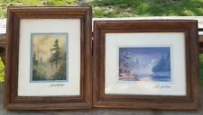 Lee Roberson signed art prints LIGHT DAWN 1988 and Misty Gold lot of 2
