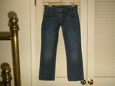 "LEE JEANS ""Cropped Capri's Lowrise 31 Blue Denim"